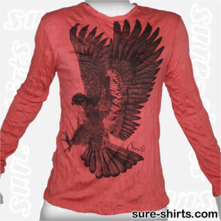 Golden Eagle - Red Long Sleeve Shirt size M