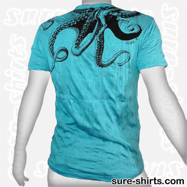 Octopus - Teal Tee size L