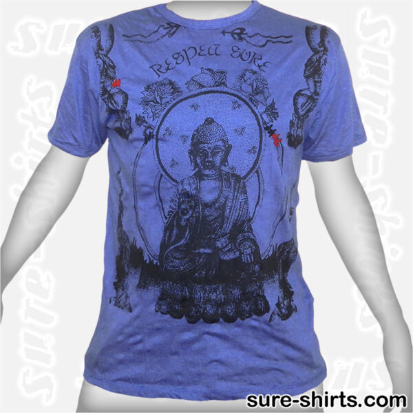 Buddha Respect - Blue Tee size L