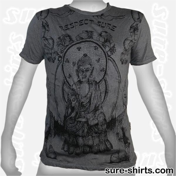 Buddha Respect - Grey Tee size M
