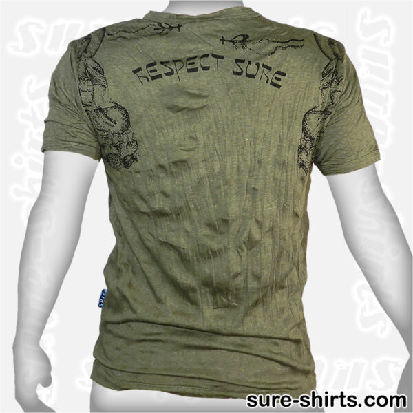 Buddha Respect - Olive Green Tee size M