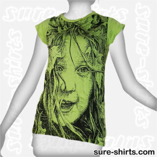Wild Girl - Light Green Women Tee