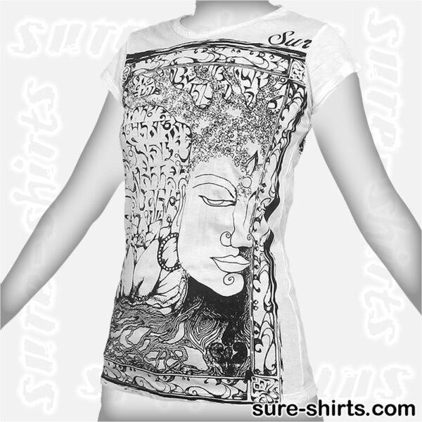 Buddha Tree Face - White Women Tee