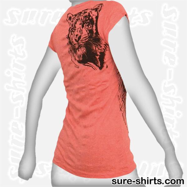 Tiger - Salmon Red Women Tee