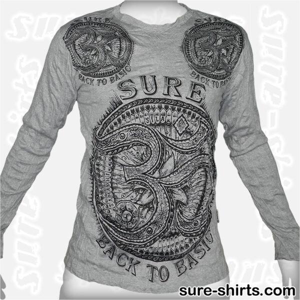Om - Light Grey Long Sleeve Shirt size M