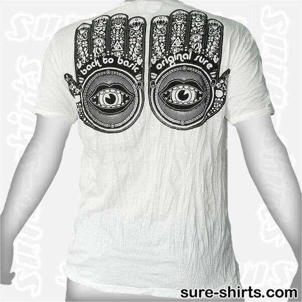 Buddha Hands - White Tee size L