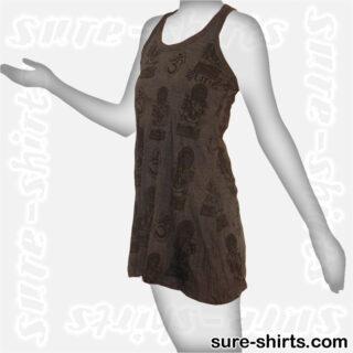Little Ganeshas - Black Women Tank Dress / Sundress