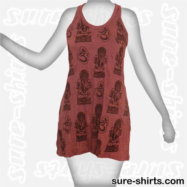 Little Ganeshas - Dark Red Women Tank Dress / Sundress