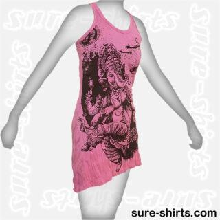 Dancing Ganesha - Pink Women Tank Dress / Sundress