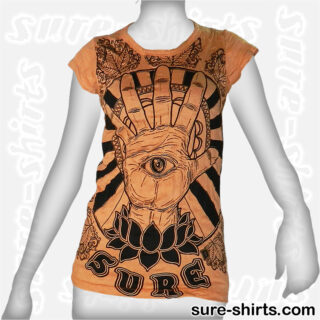 Spiritual Hand - Orange Women Tee