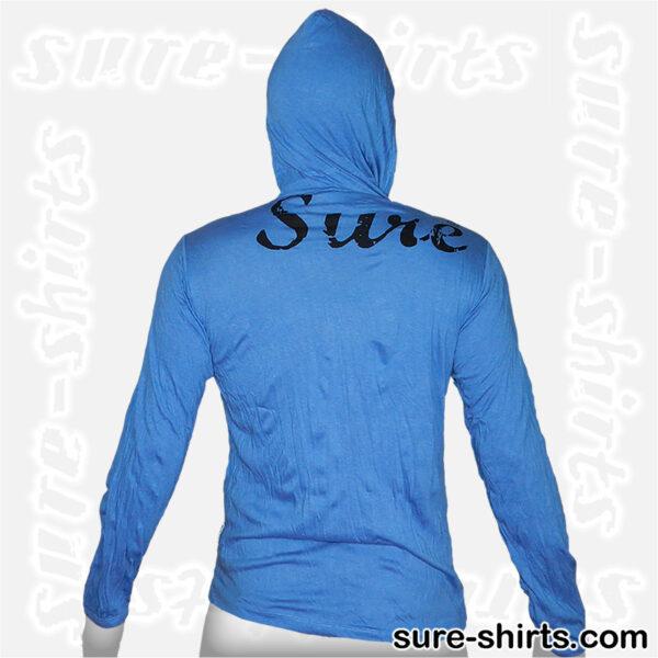 Cannabis Owl - Blue Long Sleeve Hoodie size M
