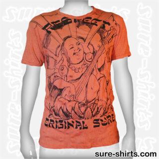 Laughing Buddha Sitar - Orange Tee size L