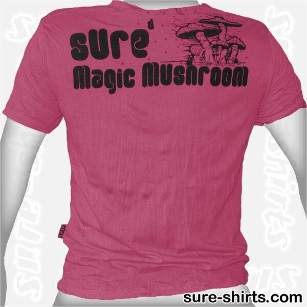 Magic Mushrooms - Ruby Red Tee size M