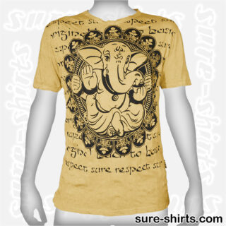 Ganesha Relaxed - Yellow Tee size L