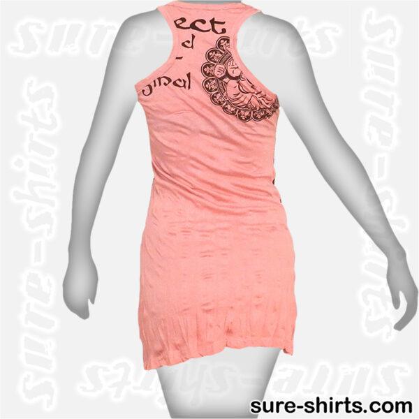 Ganesha Relaxed - Light Pink Women Tank Dress / Sundress