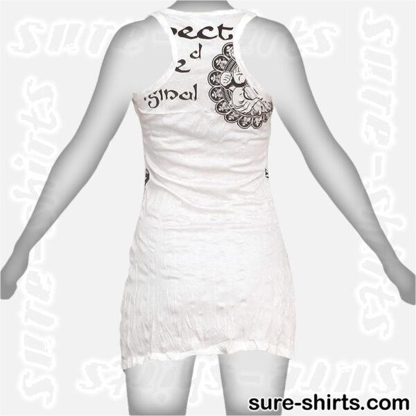 Ganesha Relaxed - White Women Tank Dress / Sundress
