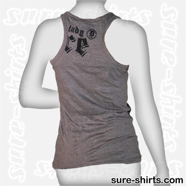 Ganesha Relaxed - Tinted Grey Women Tank Top / Singlet