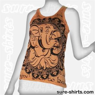 Ganesha Relaxed - Orange Women Tank Top / Singlet