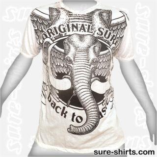 Winged Elephant - White Tee size L