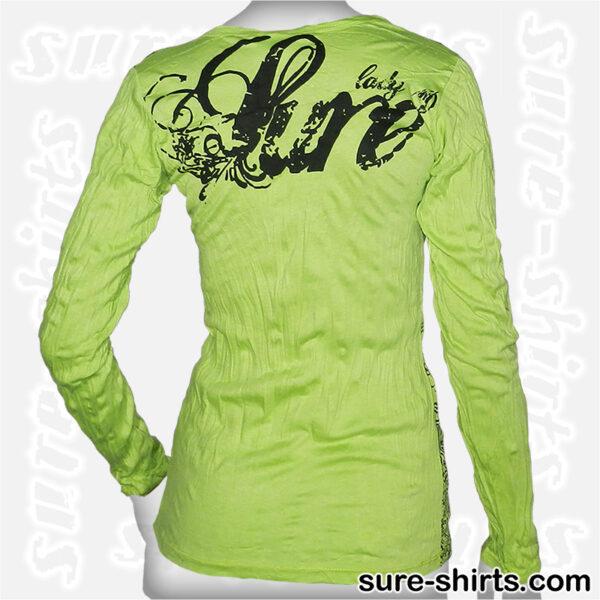 Elephant - Light Green Women Long Sleeve Shirt
