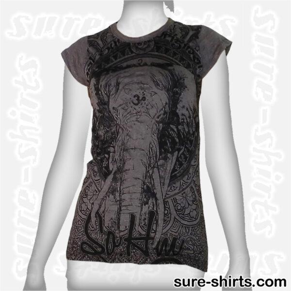Elephant - Tinted Grey Women Tee