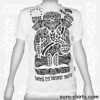 Ganesha Tribal - White Tee size L