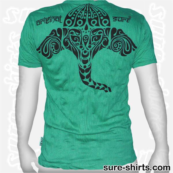 Ganesha Tribal - Aquamarine Green Tee size M