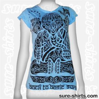 Ganesha Tribal - Light Blue Women Tee