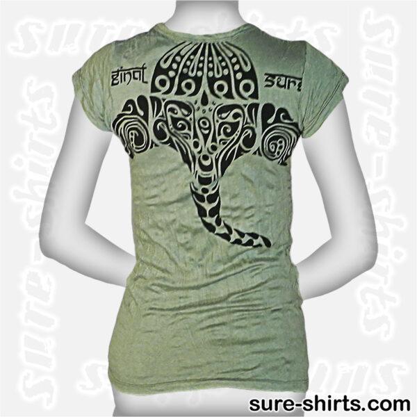 Ganesha Tribal - Mint Green Women Tee