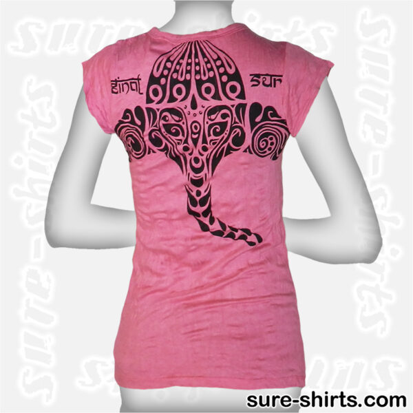 Ganesha Tribal - Pink Women Tee