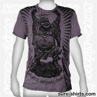Laughing Buddha Dancing - Tinted Grey Tee size L