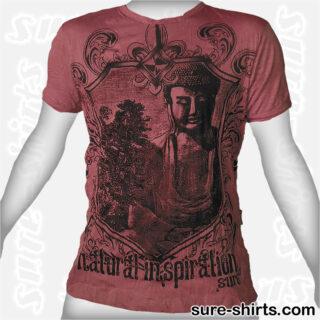 Amida Buddha - Dark Red Tee size L