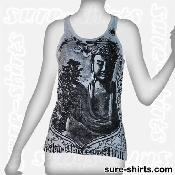 Amida Buddha - Light Grey Women Tank Top / Singlet