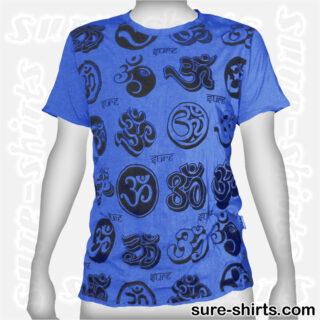 Om Symbols - Blue Tee size M