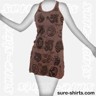 Om Symbols - Tinted Grey Women Tank Dress / Sundress