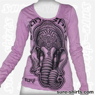 Lord Ganesha - Violet Women Long Sleeve Shirt