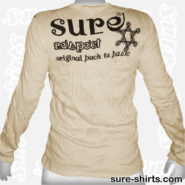 Great Buddha - Cream-Yellow Long Sleeve Shirt size M