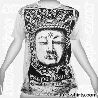 Great Buddha - Light Grey Tee size L