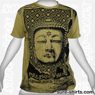 Great Buddha - Olive Green Tee size L