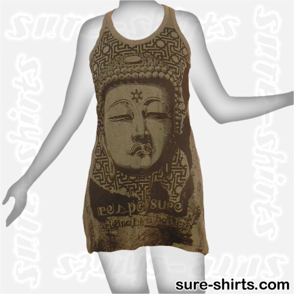 Great Buddha - Olive Green Women Tank Dress / Sundress