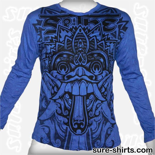 Barong - Blue Long Sleeve Shirt size M