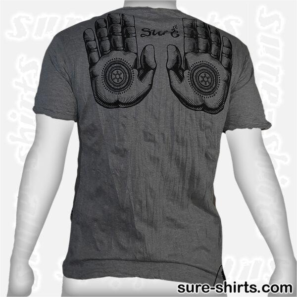 Buddha Hand Mandala - Dark Grey Tee size Msize M