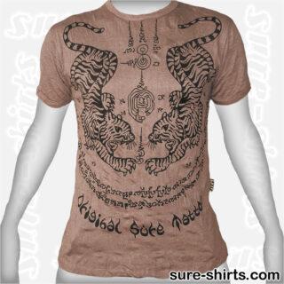 Tiger Tattoo - Beige Tee size L