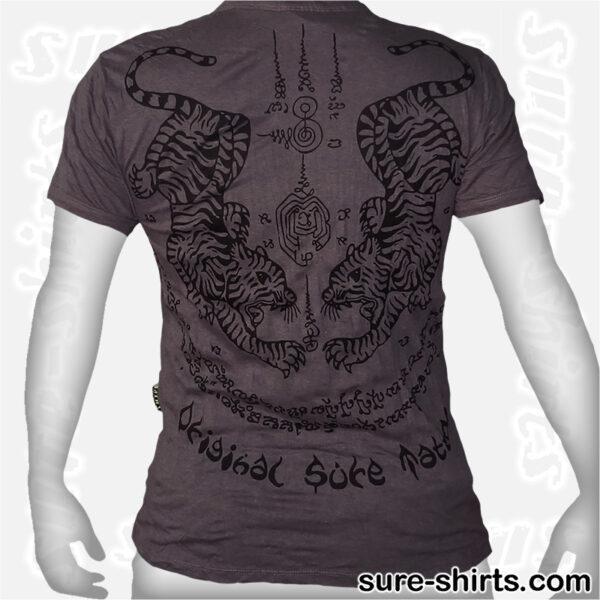 Tiger Tattoo - Tinted Grey Tee size M