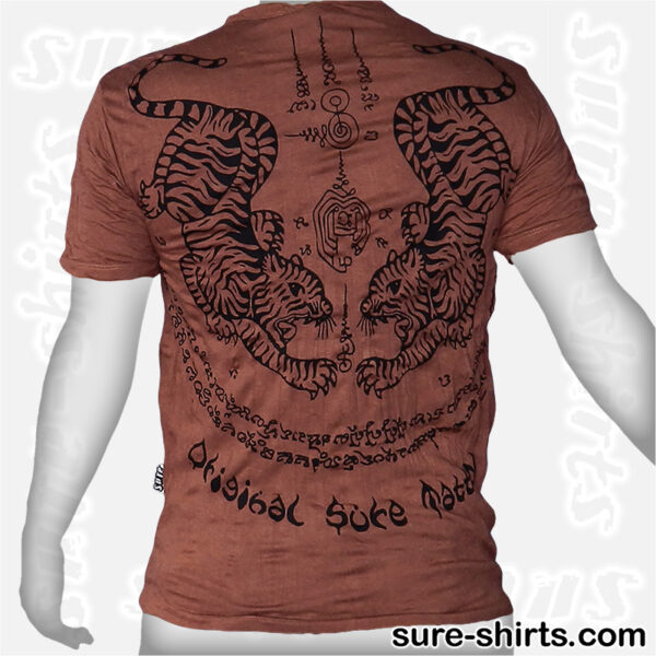 Tiger Tattoo - Brown-Red Tee size M