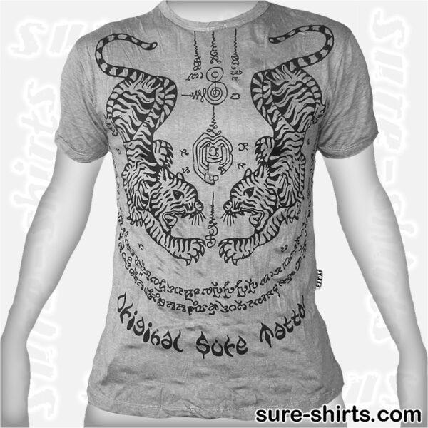 Tiger Tattoo - Light Grey Tee size M