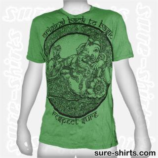 Cozy Ganesha - Green Tee size L