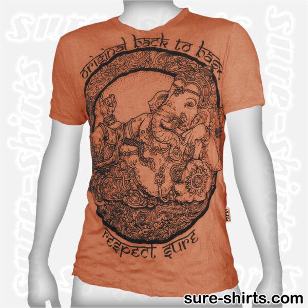 Cozy Ganesha - Orange Tee size M