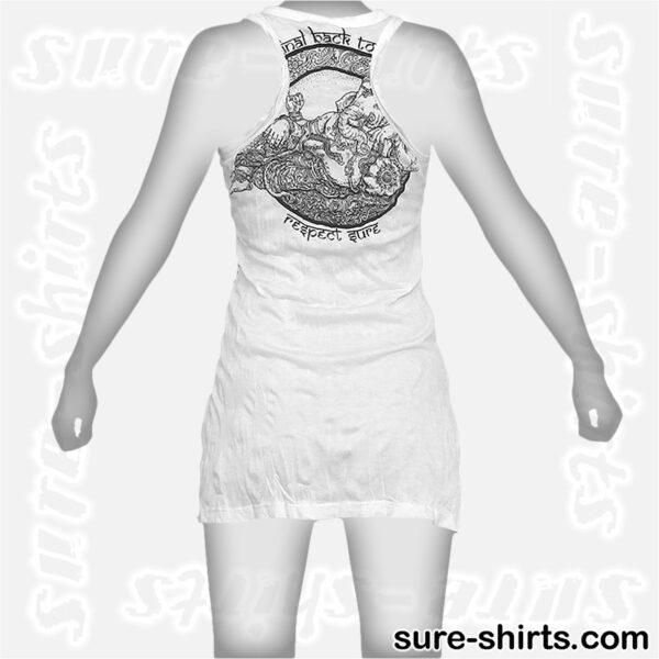 Cozy Ganesha - White Women Tank Dress / Sundress