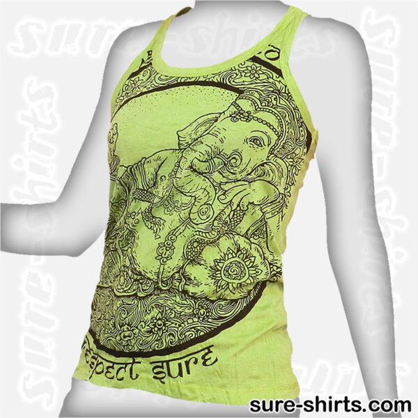 Cozy Ganesha - Light Green Women Tank Top / Singlet